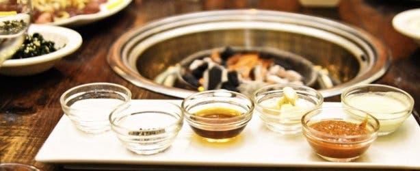 Galbi restaurant braai and Korean side dishes