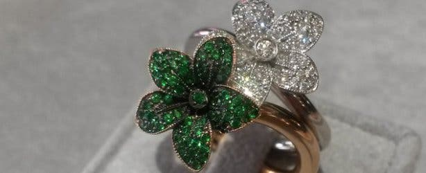 Linde Collection Diamond Lily Flower Rings