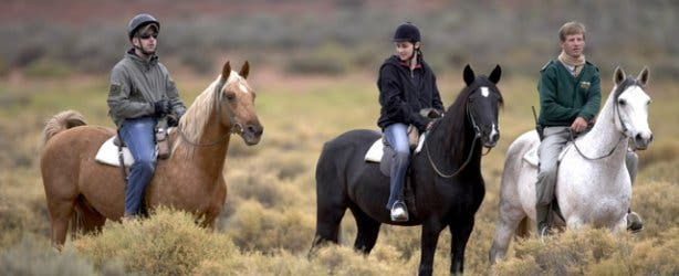 Horseback safari at Aquila