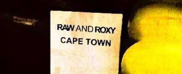 Raw and Roxy Vegan Cafe Sign