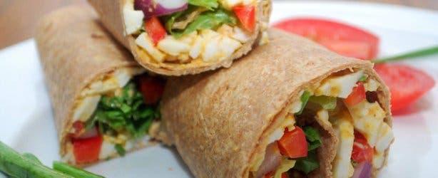 Happytown Healthy Fast Food Restaurant Wrap