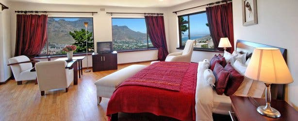 dreamhouse guesthouse romantic couple honeymoon wedding accommodation hout bay red room