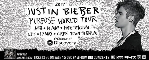 Justin Bieber Purpose Concert