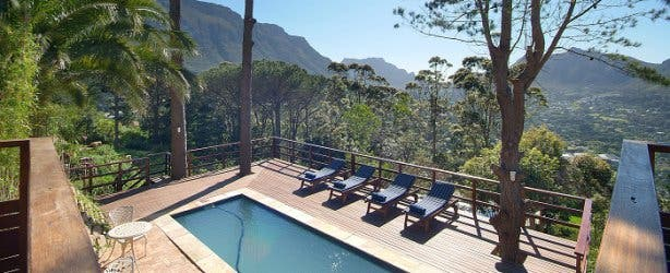 dreamhouse guesthouse pool view hout bay accommodation