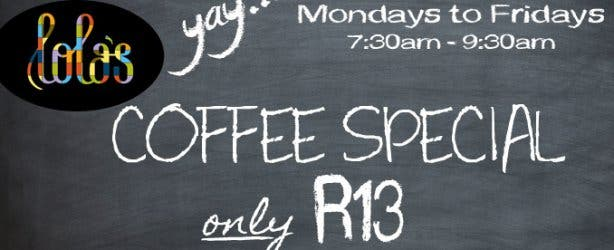Lola's coffee special cape town
