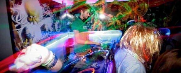 Dancing at Fiction Bar