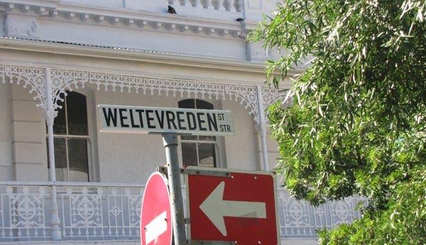Weltevreden Street Sign