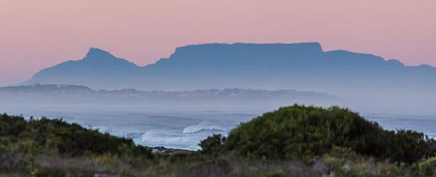 Table Mountain from West Coast National Park