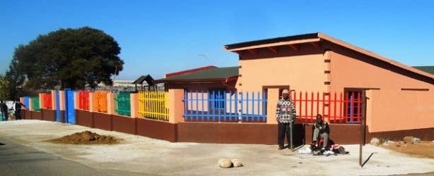 Colourful gates in Soweto South Africa