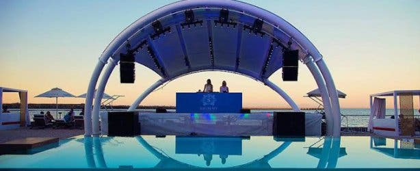 Stage at Shimmy Beach Club