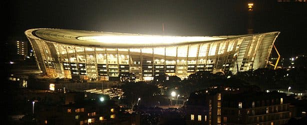 cape town stadium by night