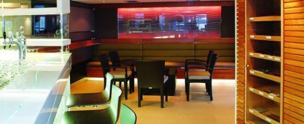 Lounge area of Tobago's bar at Radisson Blu
