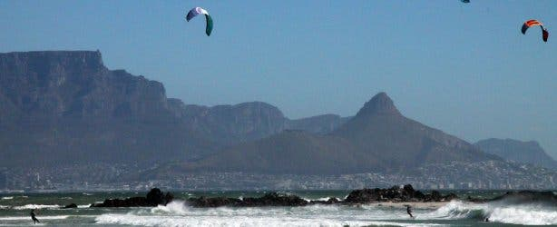 kitesurfers blouberg blaauwberg kaapstad table view tableview