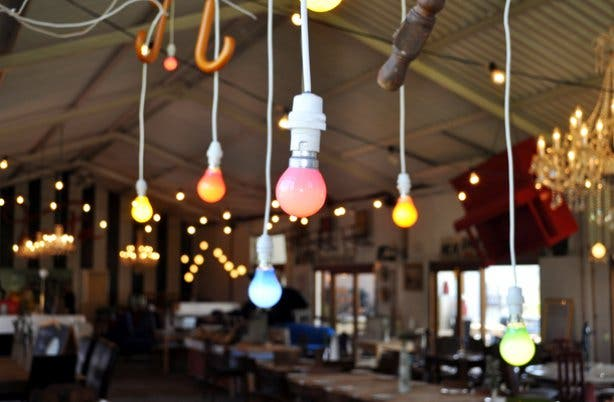 Quirky decor at Festa eatery Wellington