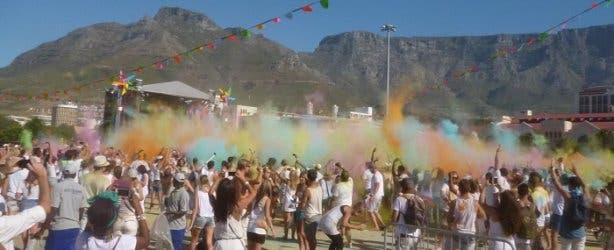 Sarina Beiser holi colour festival