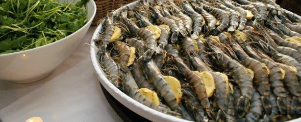 Bay Food and Wine prawns