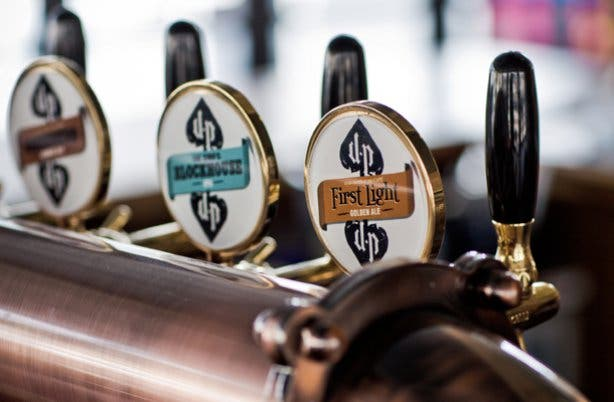 Devil's Peak craft beers at the taproom