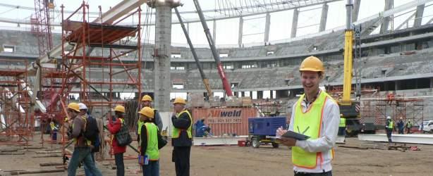 greenpoint stadium under construction