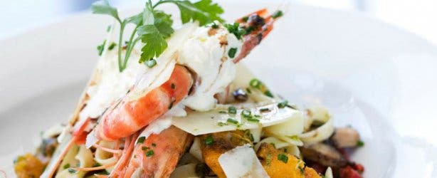Seafood pasta for dinner at Tobago's at RadissonBlu