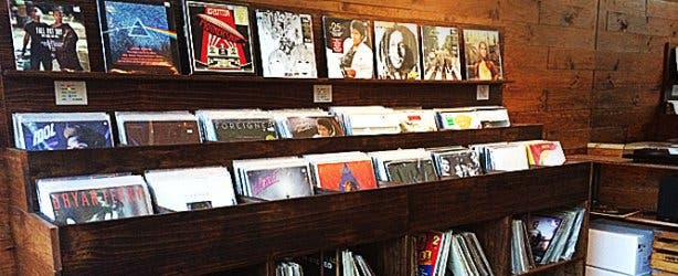 Hard Pressed Cafe Vinyl Section
