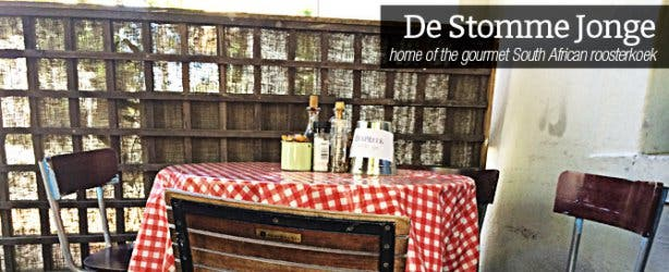 De Stomme Jonge Restaurant in Stellenbosch
