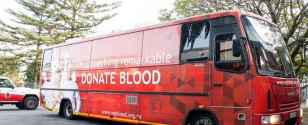 WP Blood moving clinic bus donate