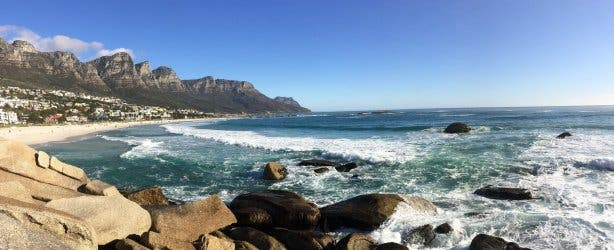 camps bay beach & rocks
