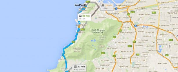 Sea Point route