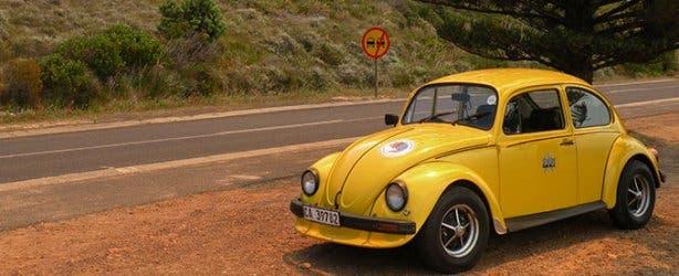 Fun Car Hire Yellow Beetle Chapman's Peak