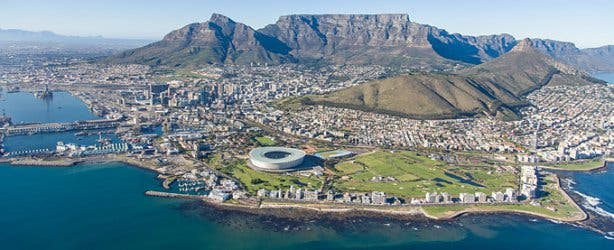 Postcard view of Cape Town South Africa