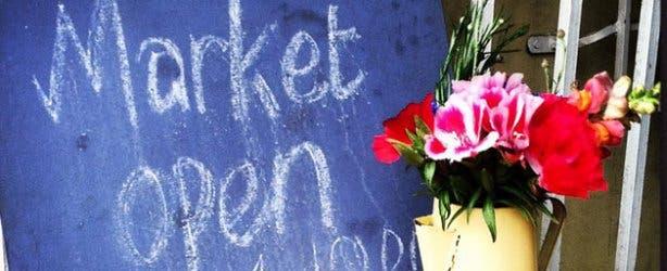 Blue Bird Garage Market Sign