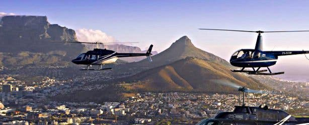 Helicopter Cape Town, lion's head, panoramic view, adrenalin, adventure, daytrips, action
