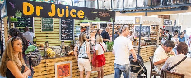 Gourmet food market in Cape Town