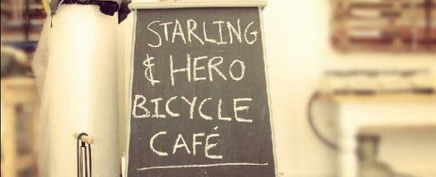 Starlings bicycle cafe in Woodstock
