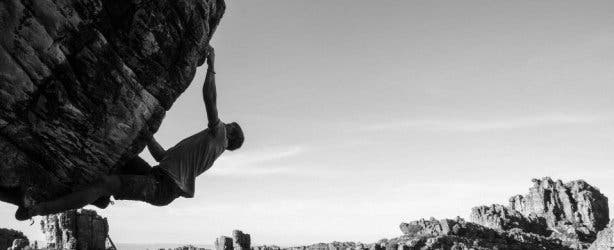 man bouldering at rocklands