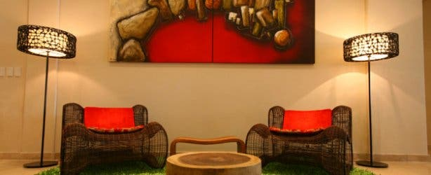 Lounge furniture at Strand Tower in Cape Town