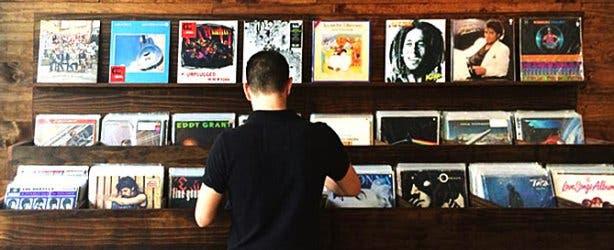 Hard Pressed Cafe Vinyl Section