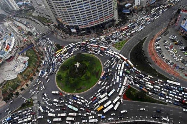 Roundabout traffic