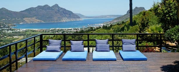 dreamhouse guesthouse seaview hout bay terrasse accommodation
