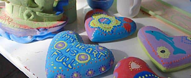 Clay Cafe hearts