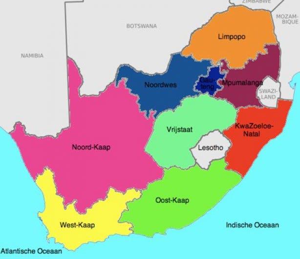 kaart afrika
