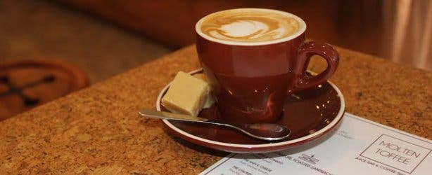 Coffee at Molten Toffee Cafe Kloof Street