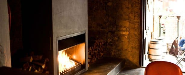 HQ Restaurant fireplace