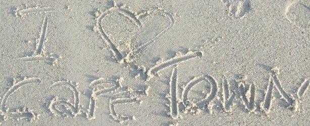 i love cape town sand beach