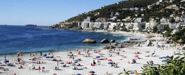 Hot day beach