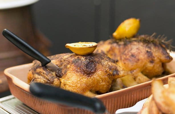 Roast chicken from Festa