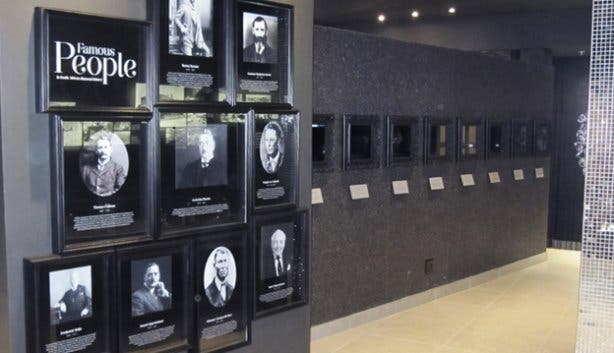 Interior walls of Cape Town Diamond Museum near Shimansky at the Waterfront