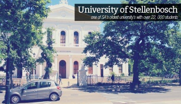Discover Stellenbosch University of Stellenbosch