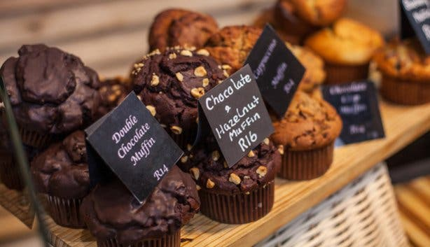 Muffins from Gourmet Pantry at the Waterfront Market
