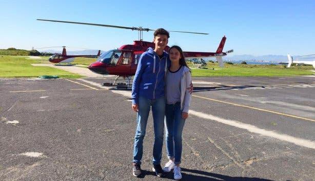 monique bijleveld helicopter selfie